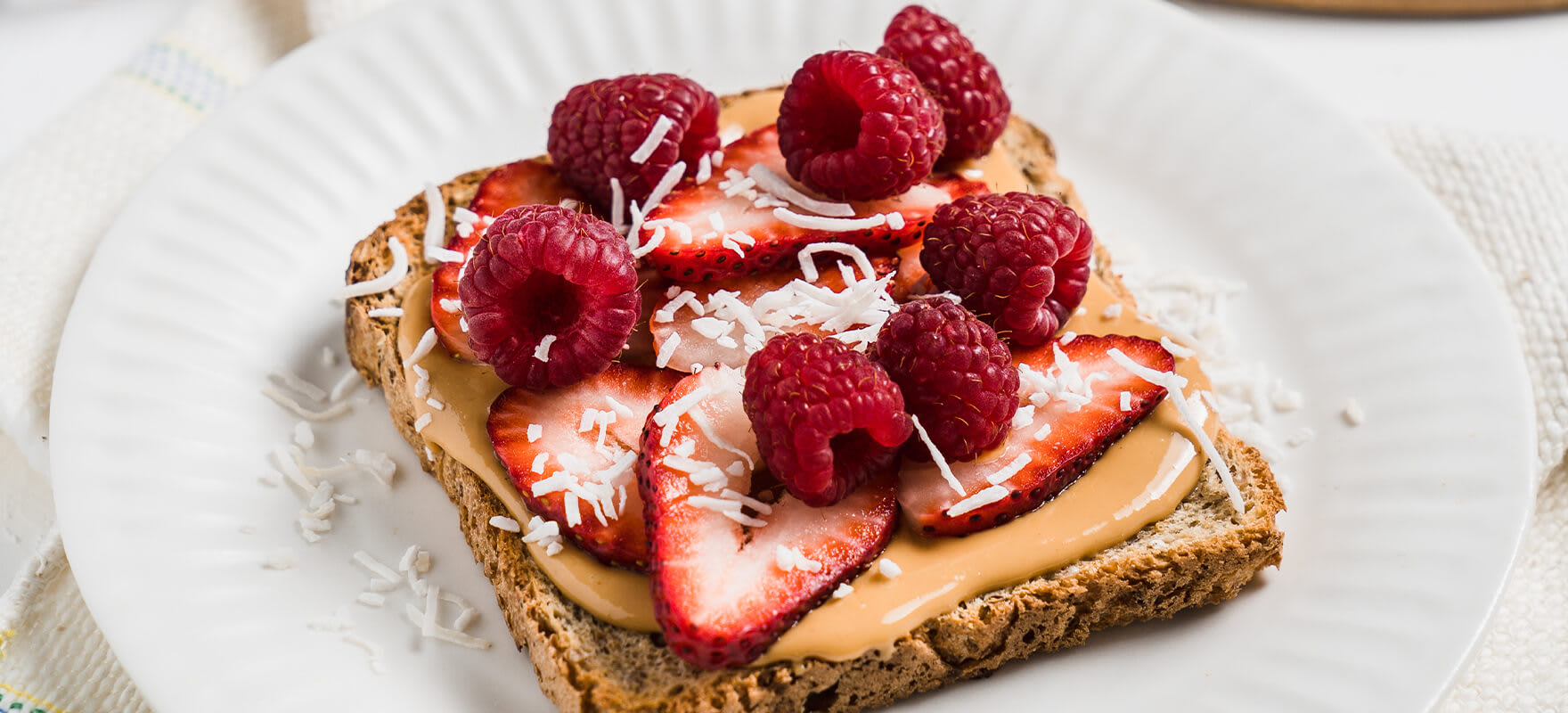 Peanut butter & red berry toast image 2