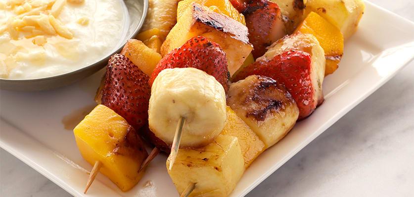 Grilled fruit kebabs image 1