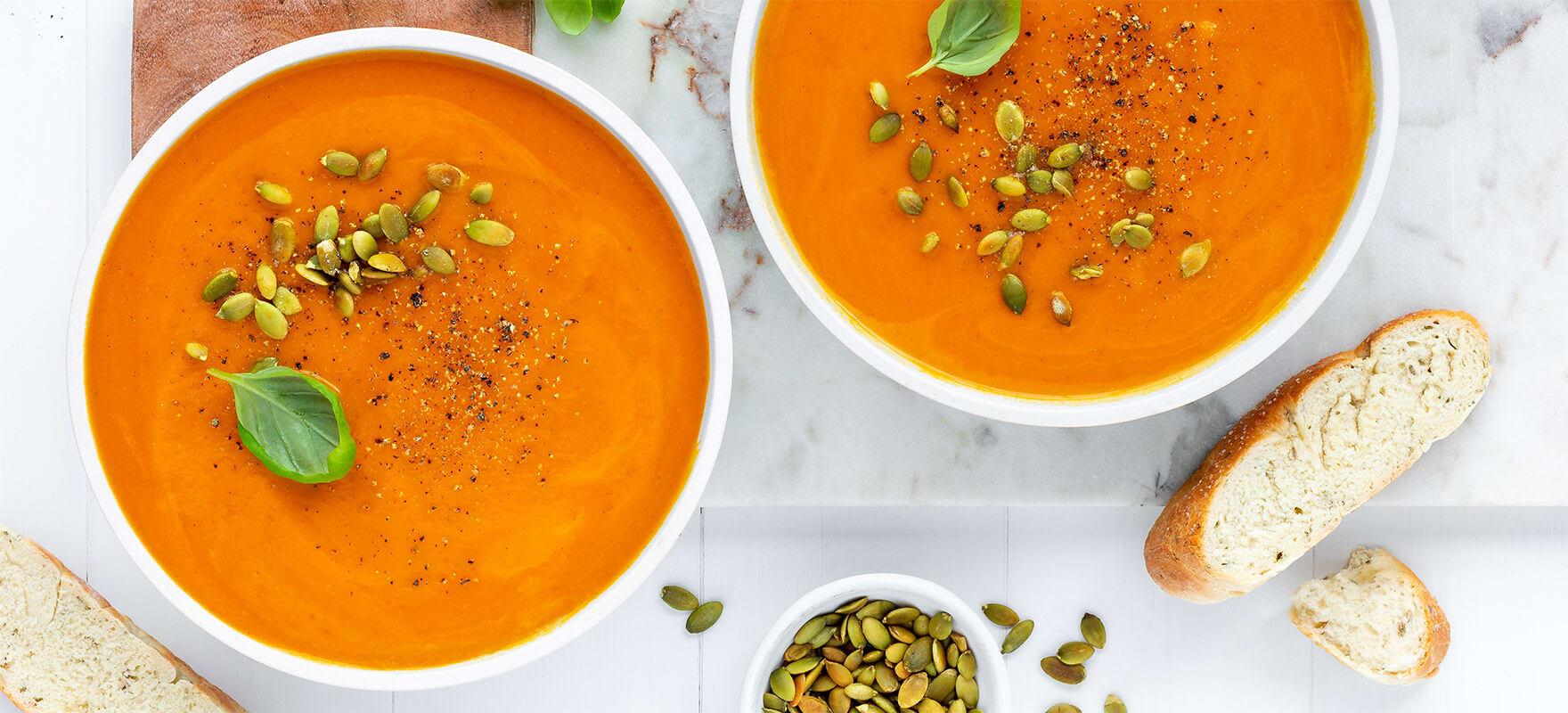 Creamy pumpkin soup image 1