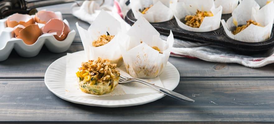 Gluten free zucchini and corn frittata image 1