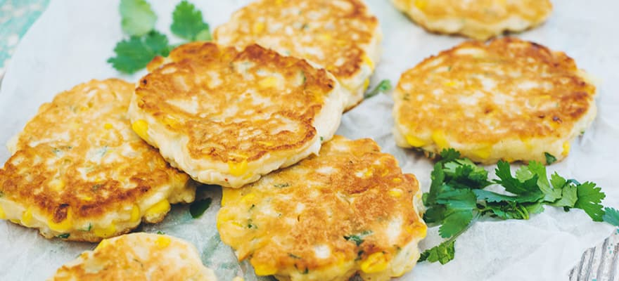 Corn and coriander fritters image 1