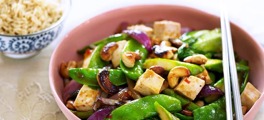 Stir-fry greens with tofu image 1