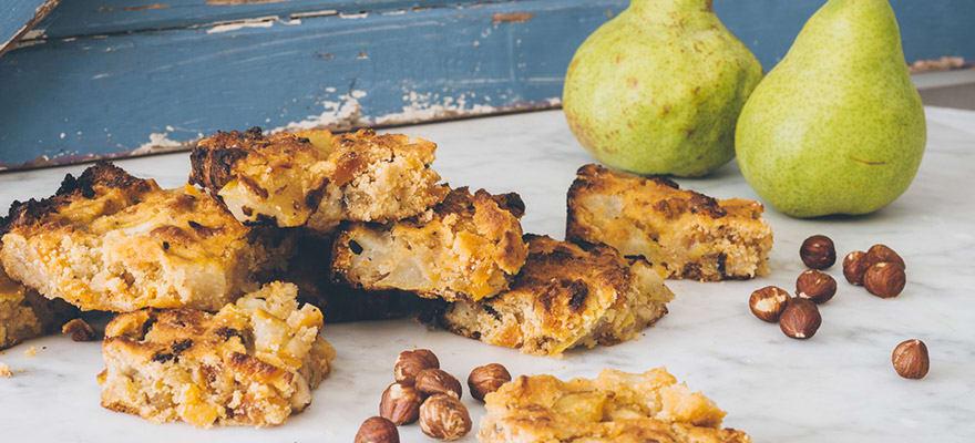 Pear hazelnut slice image 1