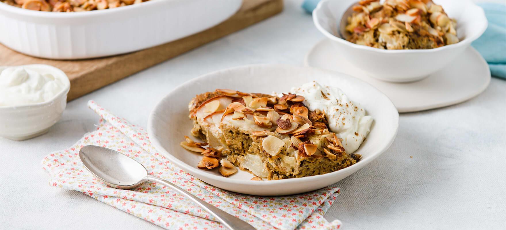 Pear & almond breakfast bake image 1