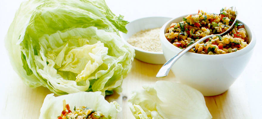Lentil and vegetable lettuce cups image 1