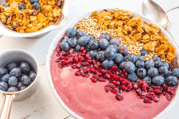 Acai and pomegranate breakfast bowl image 1