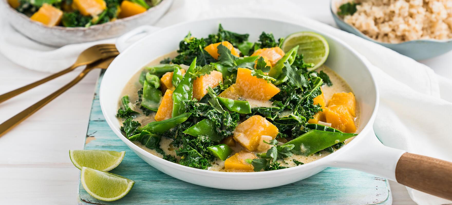 Vegan green pumpkin curry image 1