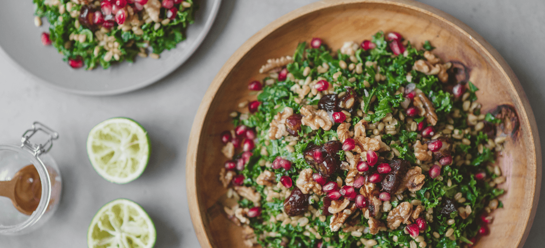 Middle Eastern farro salad thumbnail 1