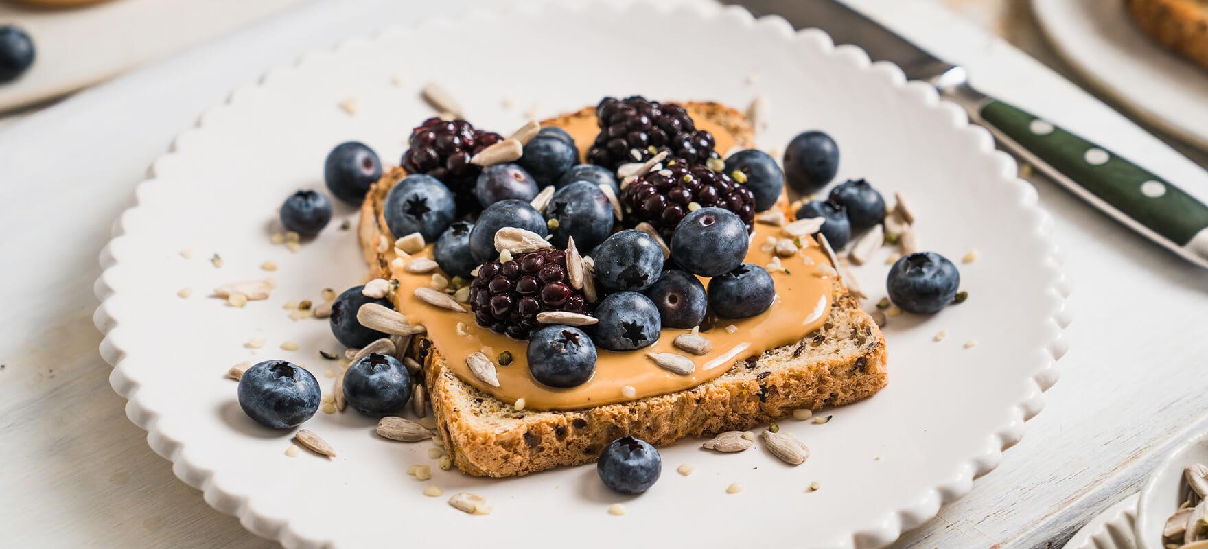 Peanut butter & purple berry toast image 2