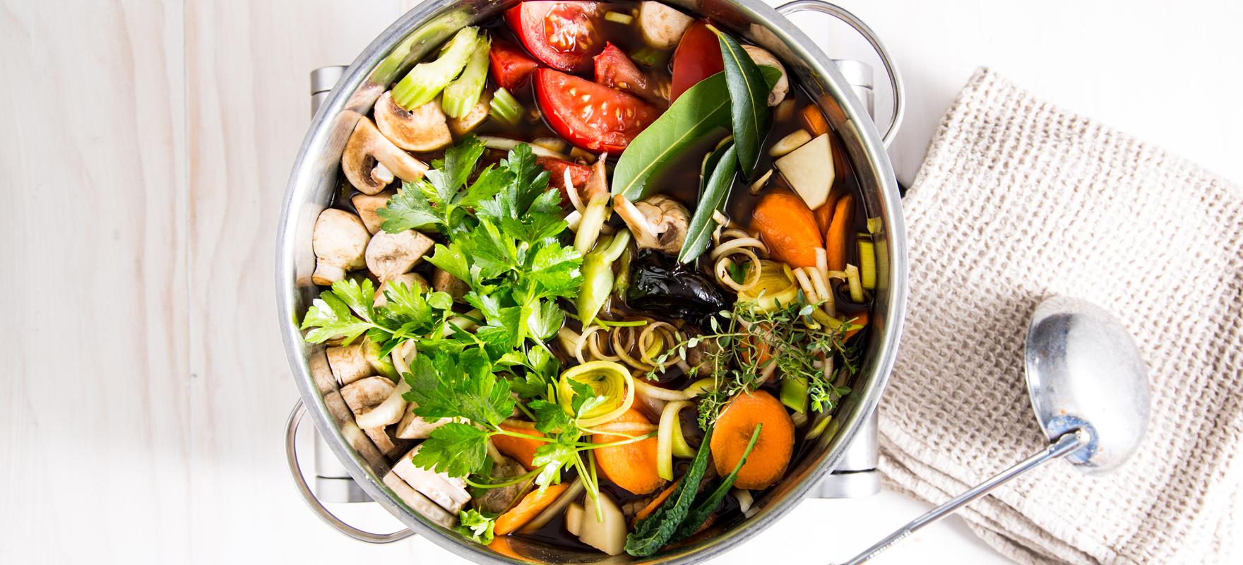 Homemade vegetable stock image 1