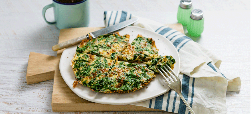 Quick spinach frittata image 1