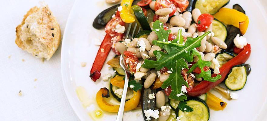 Roast vegetable and white bean salad image 2