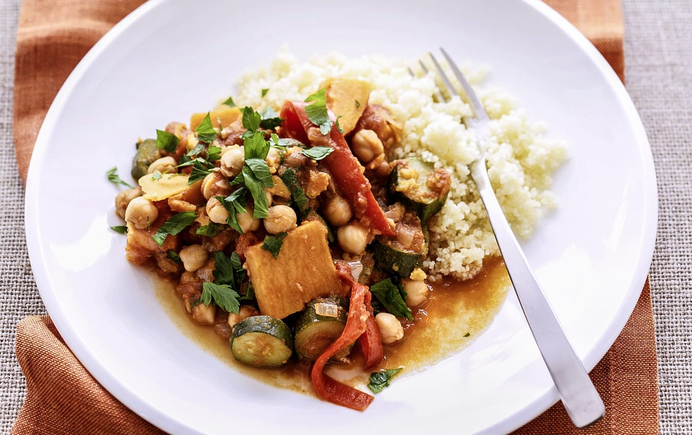Moroccan vegetables with couscous image 1