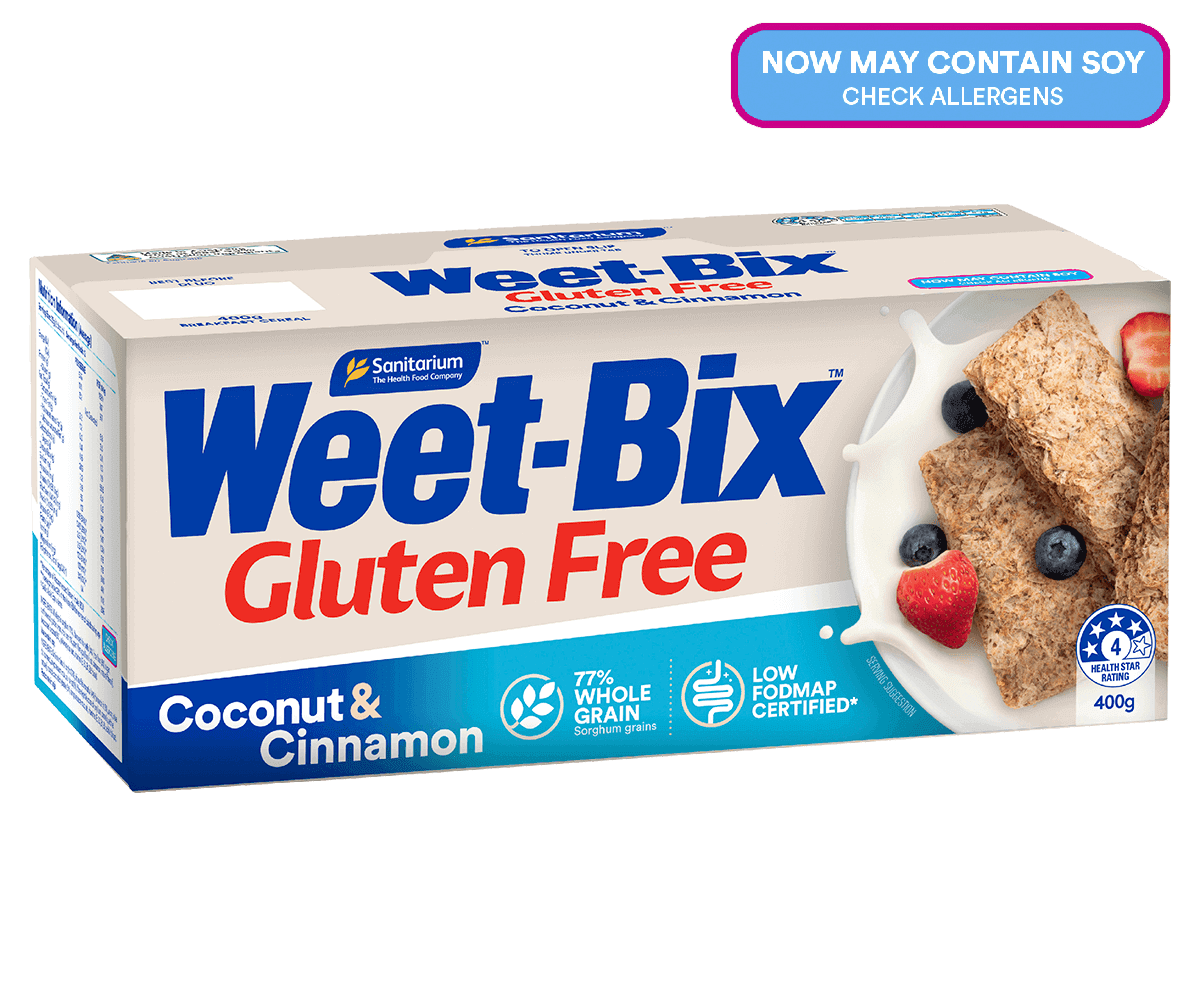 Weet-Bix™ Gluten Free with Coconut and Rice Puffs with a hint of Cinnamon Flavour
