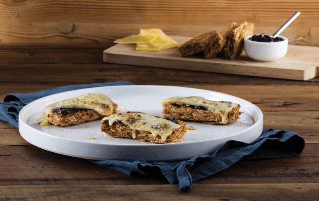 Grilled Weet-Bix™ with Marmite™ and cheese image 1