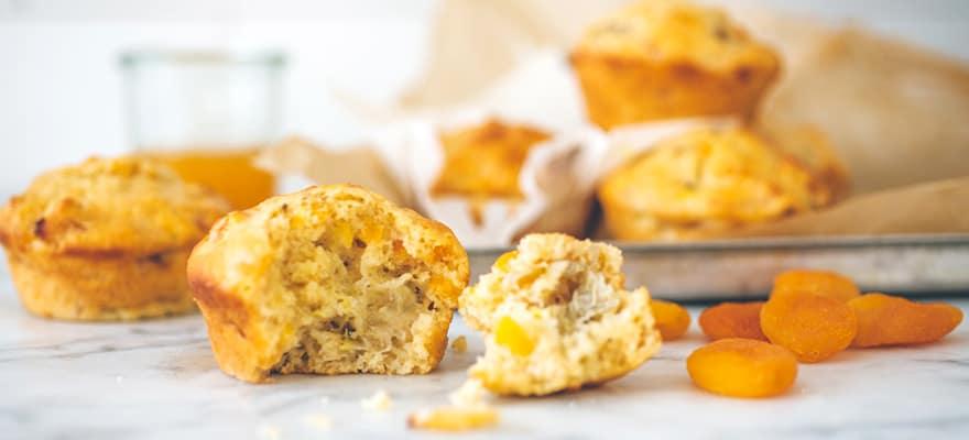 Banana apricot muffins image 1