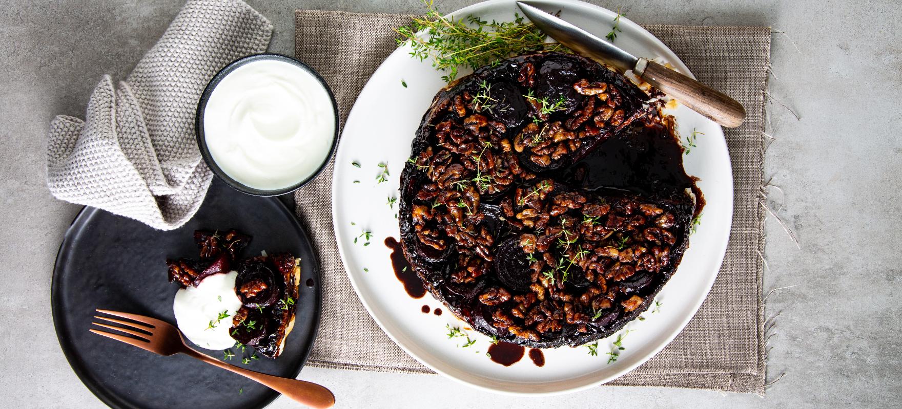 Beetroot & Marmite tart tatin image 2