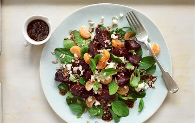 Beet and feta salad with Marmite™ dressing image 1