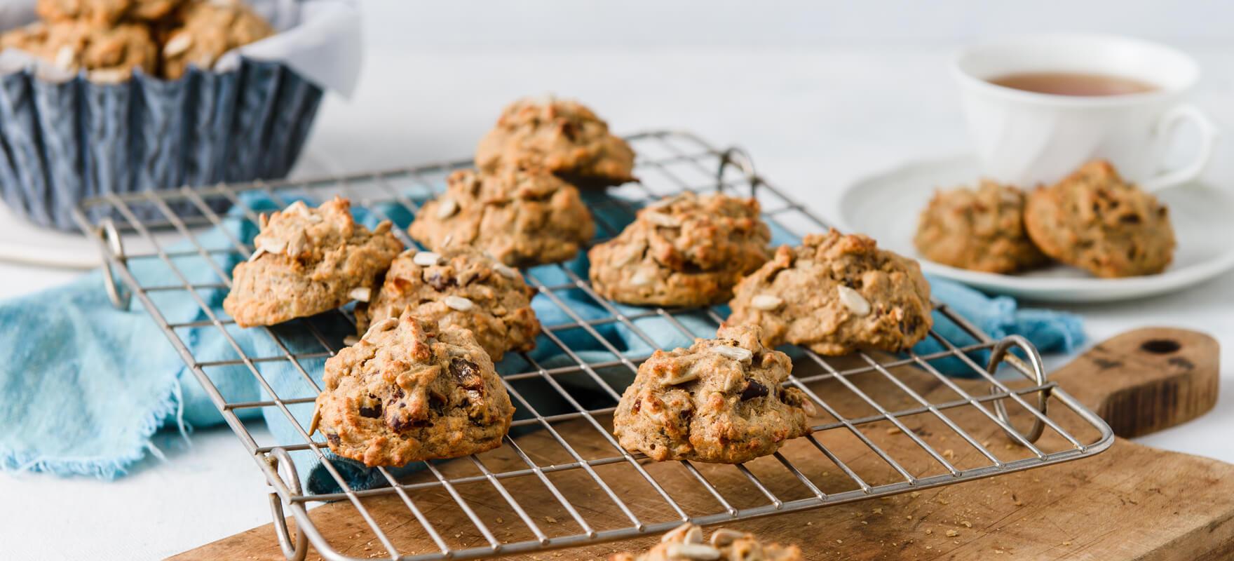 Date & seed breakfast cookies image 1