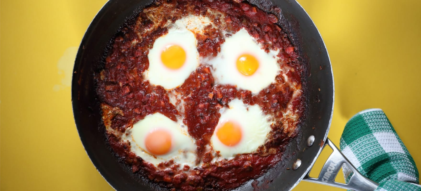 Baked eggs with cumin flatbread image 1