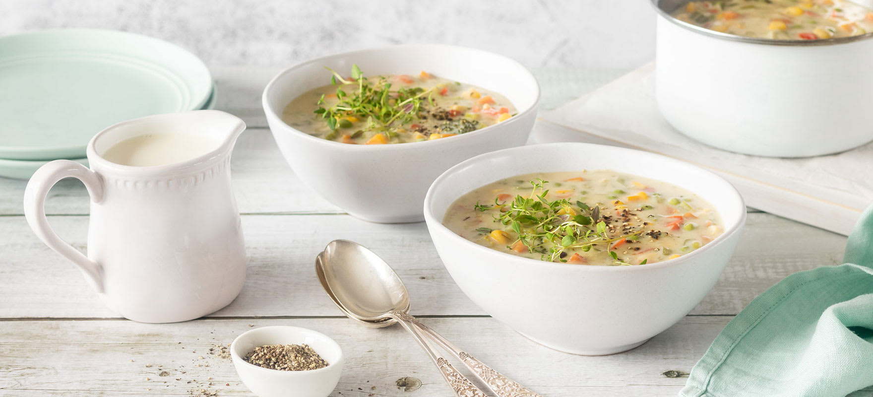 Creamy vegetable soup image 2