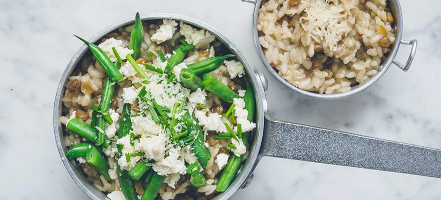 Creamy garlic and leek risotto image 1