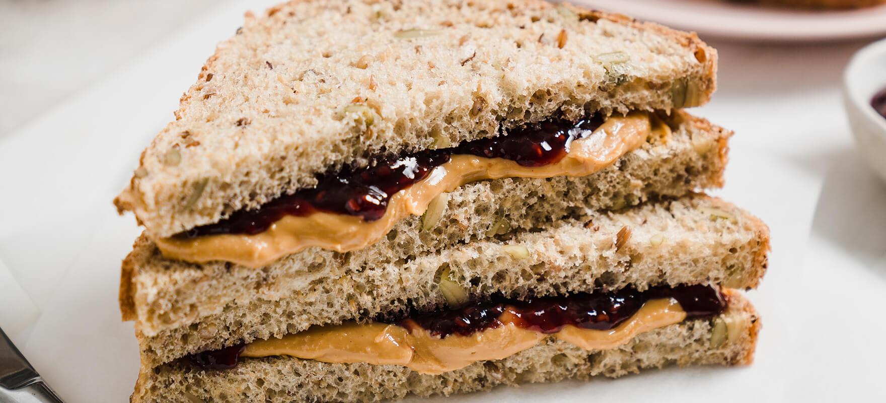 Peanut butter & jam sandwich image 2