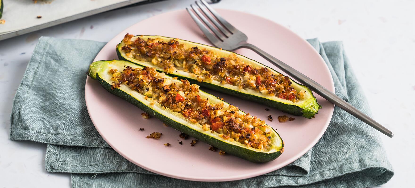 Stuffed zucchini boats image 1