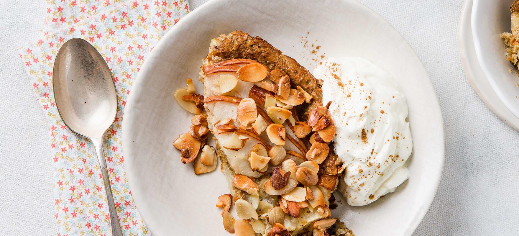 Pear & almond breakfast bake image 2