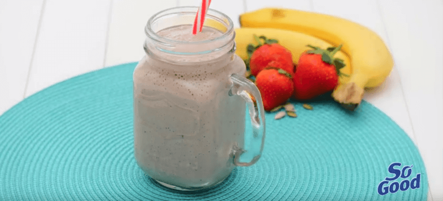 Banana berry smoothie - fresh image 1