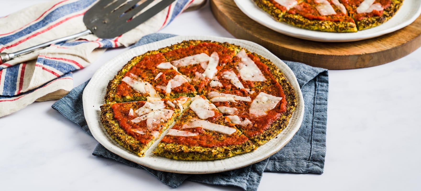 Broccoli & Parmesan pizza image 1