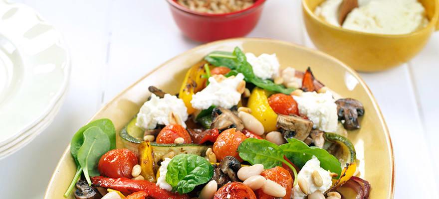 Roast vegetable and white bean salad image 1
