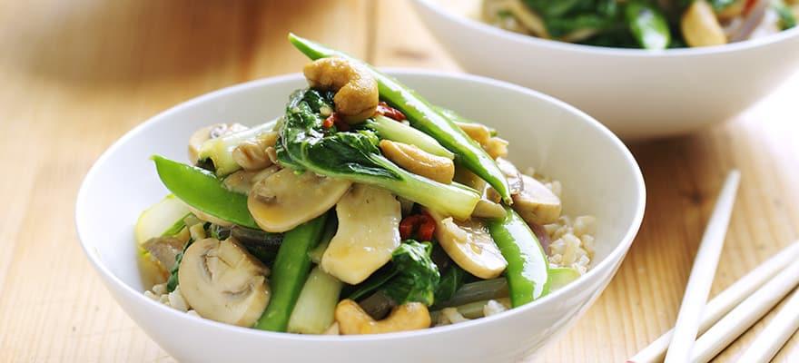 Vegetarian stir-fry image 1
