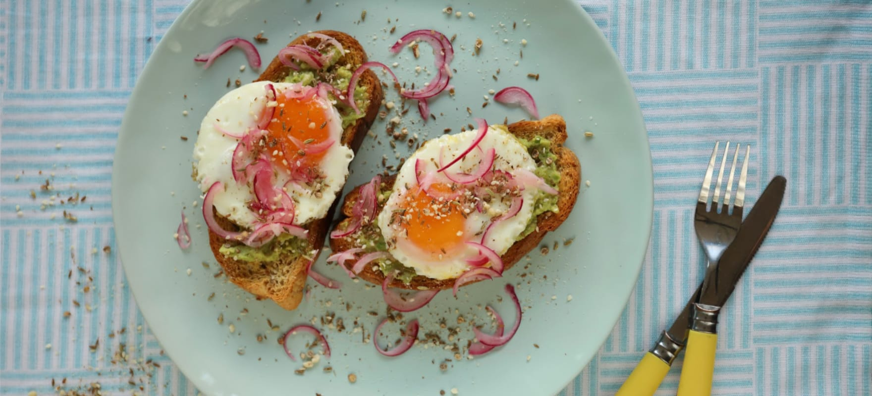 Avocado, egg and spiced dukkah on toast image 2