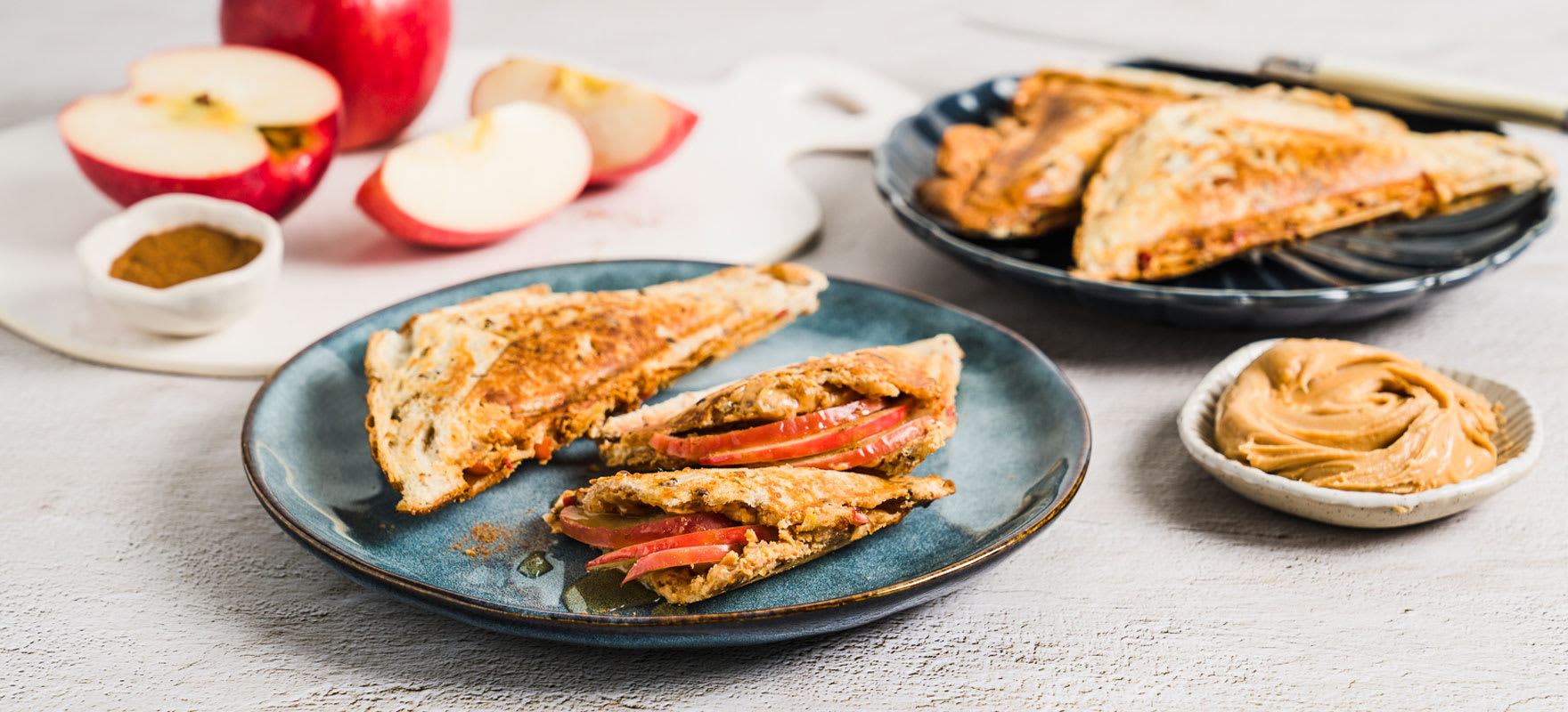 Peanut butter & apple toasted sandwich image 1