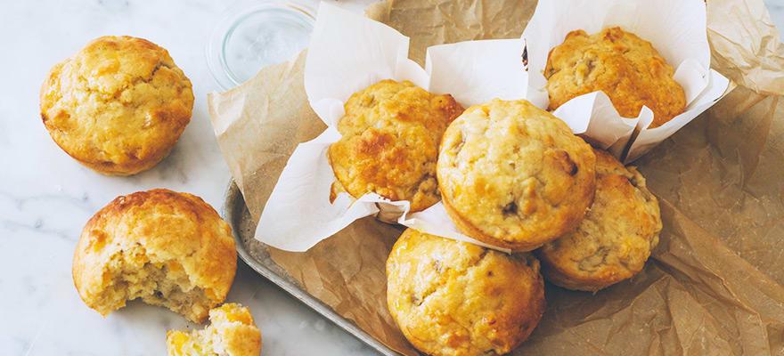 Banana apricot muffins image 2