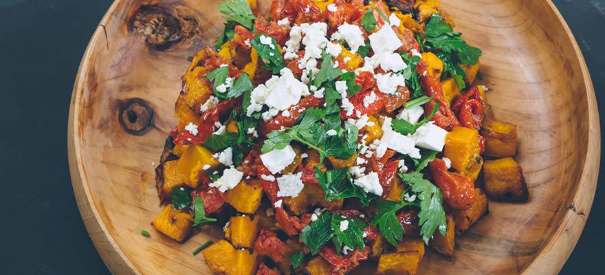 Roast pumpkin and feta salad image 1