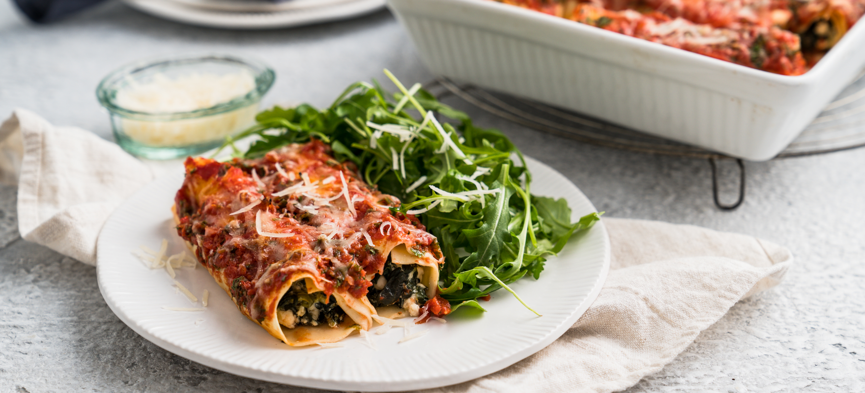 Spinach and feta cannelloni image 1