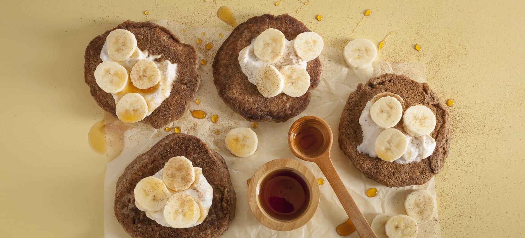 Vegan buckwheat protein pancakes image 1