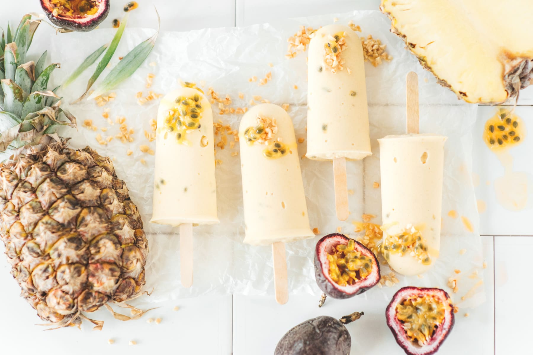 Tropical fruit popsicles image 2