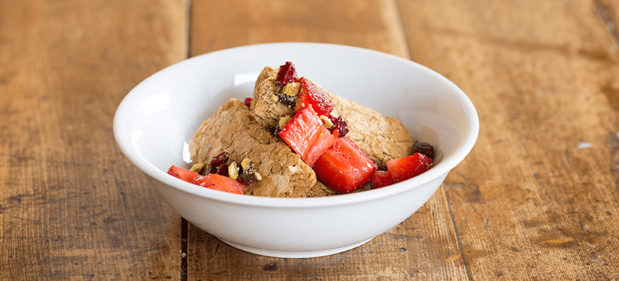 Weet-Bix™ with strawberries, cranberries and pistachios image 1