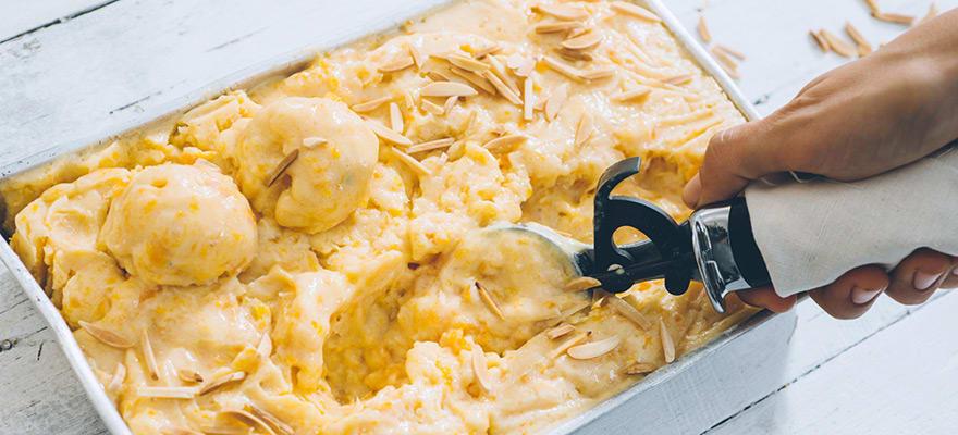 Apricot tofu ice-cream image 1