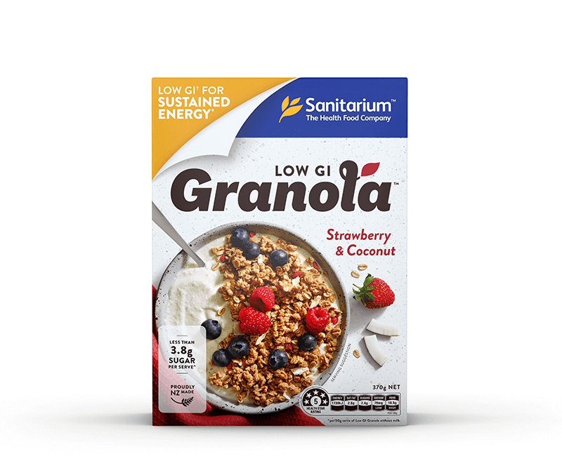 Low GI Granola Strawberry Coconut