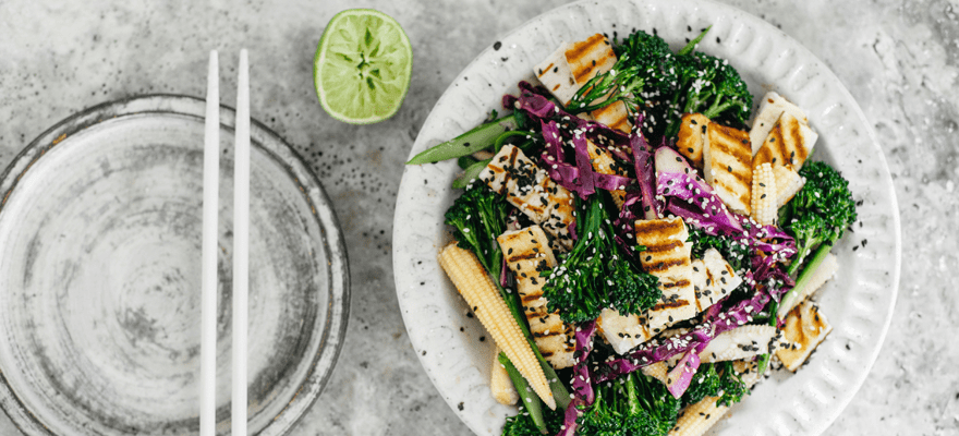 Red cabbage and haloumi stir-fry image 1