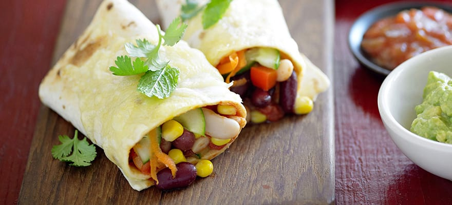 Mexican bean burritos image 1
