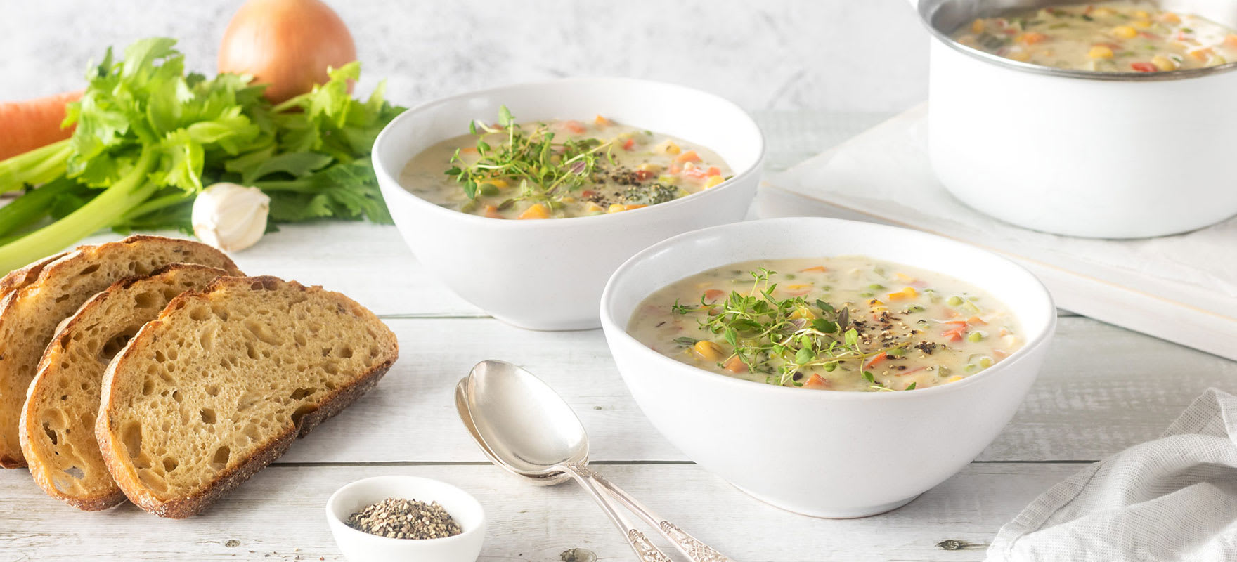 Creamy vegetable soup image 1