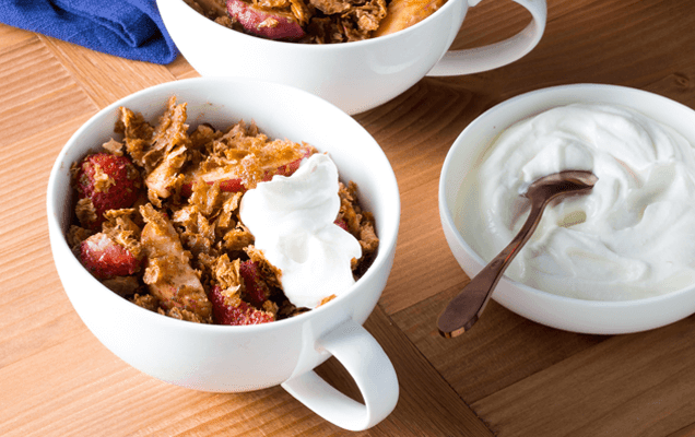 Peach, strawberry and Weet-Bix™ crumble cups image 1