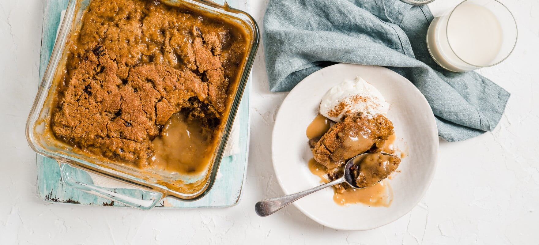 Self-saucing sticky date pudding image 1