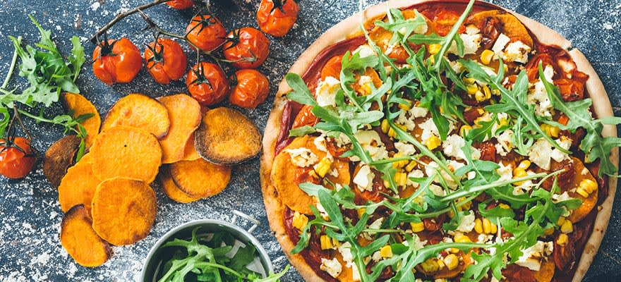 Roast kumara and feta pizza image 1