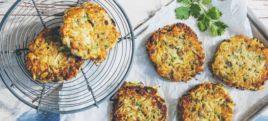 Lentil & courgette patties image 1